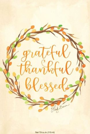 GRATEFUL, THANKFUL, BLESSED - WILLOWBROOK SCENTED SACHET